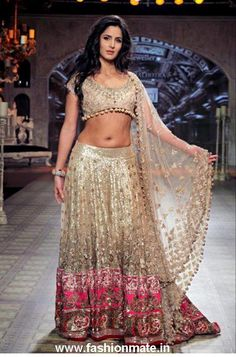 Katrina Kaif as showstopper in @ManishMalhotra1 http://www.manishmalhotra.in/flash.html Exquisite Lehenga @ Delhi #Couture Week 2012