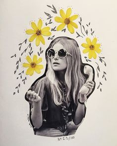 illustrations, 1960's fashion style, bohemian style, I Am Zazie, summer