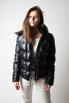 Faux Leather Puffer #NYLONshop http://shop.nylon.com/collections/whats-new/products/faux-leather-puffer