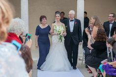 Modern Jewish bride processional found on Modern Jewish Wedding Blog   Miami Elegant Modern Jewish Wedding