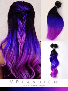 Mermaid Purple Remy Clip in Hair Extensions Inspired by Toni Rose Larson
