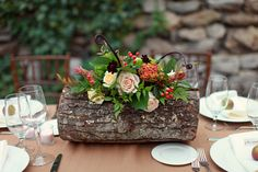 beautiful fall wedding centerpiece