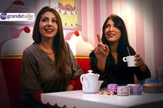 Sara and Benedicte having a cup of tea during our #Cupcake photo shoot in Paris! #girly #models #healthy #french