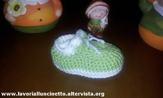Scarpine verdi di lana