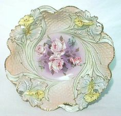 Antique Estate Royal Bayreuth Floral Bowl Disney Collectibles, Beautiful Table Settings, Plates And Bowls, Glass Dishes, Fine Porcelain, Vintage China, Fine China, Trays, Bb