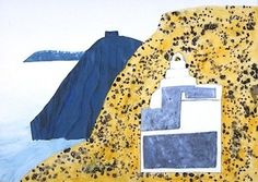Chapel and Cliffs, Santorini, 1979 Greece Painting, Painting Gallery, Artist Painting, Santorini, Beach Mat, Outdoor Blanket, Inspiration, Paintings, Biblical Inspiration