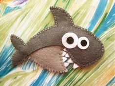 Piper the shark  cute felt brooch animal brooch by mirkajakabova, €9.00
