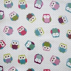 Wise Owl Multi oilcloth tablecloth