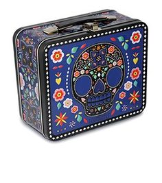 Loungefly Blue Sugar Skull With Flowers Lunchbox