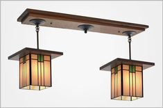 Two shade pendant Light. Classic Craftsman period design, looks great over Kitchen Islands. Select your favorite wood and glass colors to match your interior decor. Kitchen Pendant Lighting, Pendant Light Fixtures, Pendant Lights, Craftsman Dining Room, Craftsman Lighting, Flush Ceiling Lights, Island Lighting, Room Lights