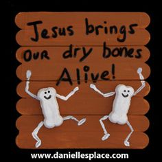 Ezekiel Dry Bones Craft Stick Bible Craft for Sunday School from www.daniellesplace.com