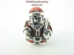Pandora European Bead Charm Sterling Silver 925 Santa Claus St Nick 791231ENMX #Pandora #European