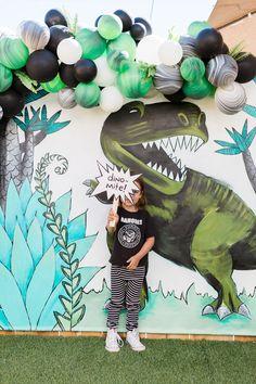 Modern prehistoric dinosaur 4th birthday
