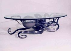 awesome octopus table!!!!    Offbeat Home