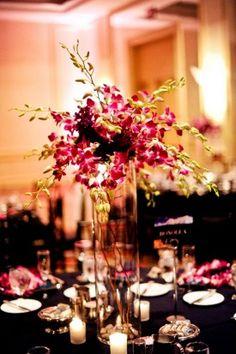 Radiant Orchid Wedding Centerpiece