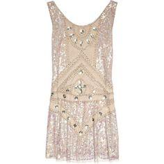 Anna Sui Embellished tulle mini dress
