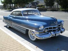 1951 Cadillac Series 62 Coupe deVille. ... Classy blue and white exterior