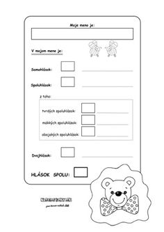 Hráme sa - samohlásky a spoluhlásky - Nasedeticky. Diagram, Notebook, Bullet Journal, Education, Gym, Work Outs, Educational Illustrations, Learning, Exercise Book