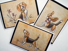 BEAGLE Greeting Cards by SUPATOON on Etsy, $18.00