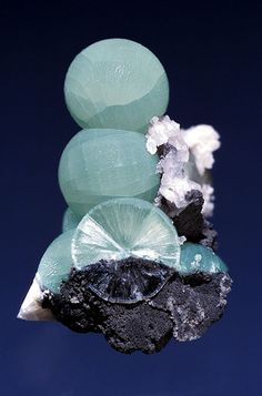 Wavellite Wavellite is found in fine specimens at Laharran Quarry near Cork.