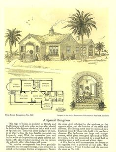 Five Room Face-Brick Bungalows, 1926.  American Face Brick Assoc.  From the Association for Preservation Technology (APT) - Building Technology Heritage Library, an online archive of period architectural trade catalogs. It contains hundreds of old house plan catalogs. Select your era and flip through the pages.