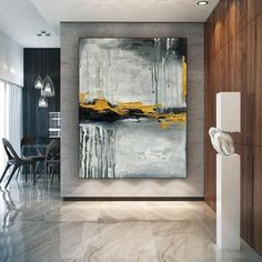 Extra Large Abstract Painting Home Wall Art Modern Oil image 3 Blue Painting, Large Painting, Oil Painting Abstract, Texture Painting, Acrylic Painting Flowers, Moon Painting, Chinese Painting, Texture Art, Painting Art