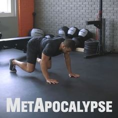 Fry fat at a furious pace with The MetApocalypse Workout from MH fitness director BJ Gaddour (@bjgaddour)! Perform each move for a minute with little to no rest between moves: 1️⃣ Plyo Bear Crawl to Pushup 2️⃣ Half, Half, Full Squats Complex 3️⃣ Dead-Stop Pushup to Superman 4️⃣ Drop Squat to Rotational Spider Jump 5️⃣ Side-to-Side Side Looking Pushups 6️⃣ Lateral Lunge to Lateral Slide That's 1 round. Rest a minute. Perform 3-5 total rounds. DOUBLE-TAP if you dig it and tag some #swole...