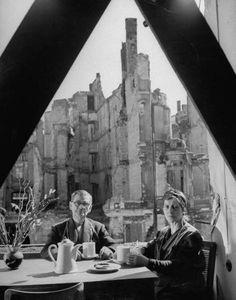 Breakfast in Berlin, May 1946. Photographed by Walter Sanders