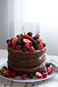 Sonja Dahlgren/Dagmar's Kitchen :: Coco crazy chocolate cake with salted espresso caramel