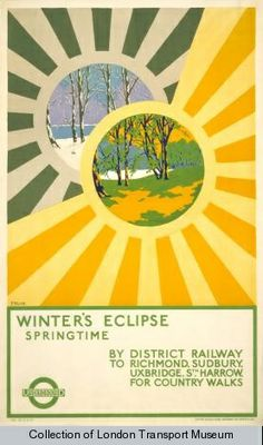 The Passion of Former Days: Spring Calling, London Listening Poster by Albert E. Fruin, 1922.