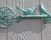 Shabby Chic/Cottage Chic Heart Key Wall Decor in AQUAMARINE