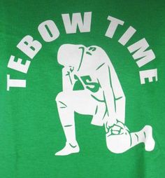 Jets Tebow Time Tebowing Tim Green New York Football Jesus Adult T-Shirt (Medium)
