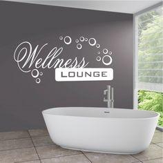 Wandtattoo In diesem Bad zur Wandgestaltung im Badezimmer | Ideen ...