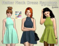 Tukete: Halter Neck Dress • Sims 4 Downloads