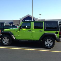 My new Gecko Green Jeep!