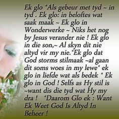 God is altyd in beheer Prayer Quotes, True Quotes, Bible Quotes, Words Quotes, Bible Verses, Scriptures, Spiritual Inspiration Quotes, Spiritual Quotes, Condolence Messages
