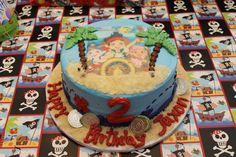 Jake and the Neverland Pirates Cake- 2nd birthday