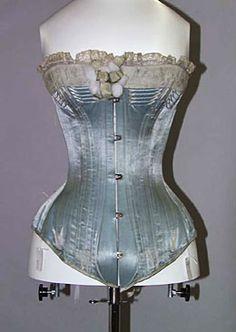 Spoonbill In 1873 kwam de spoonbusk in gebruik en het nieuwe korset kreeg meer baleinen waardoor hij stijver, zwaarder en strakker werd