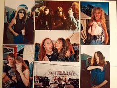 Metallica live Donington 1985  backstage rare photos Cliff Burton  Venom  cronos
