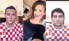 Make-up artist transforming into Croatian football players