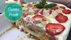 Erdbeer Tiramisu mit Aprikosenmus - Dessert Rezept Tiramisu Mascarpone, Mascarpone Dessert, Waffles, Breakfast, Chef, Food, Youtube, Bakken, Biscuit