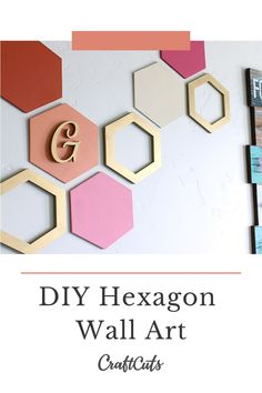 Hexagon Wall Art is popular in home decor and always evolving. There are so many ways to use a hexagon shape to decorate any room in the home. 3d Mirror, Mirror Wall Art, Diy Wall Art, Wall Art Decor, Painting Wooden Letters, Painted Letters, Letter Wall Art, Diy Crafts For Gifts, Craft Ideas