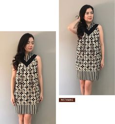 Blouse Batik, Batik Dress, Batik Kebaya, Batik Fashion, Ethnic Dress, Simple Dresses, Maternity Fashion, Ikat, Afro