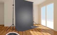 9 x 6 ft Gray Muslin Backdrop Photography Background Photo Studio Wrinkle Free