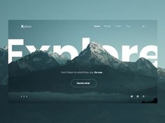 This is a UI design for travel website. Design Web, Layout Design, Website Design Layout, Web Layout, Page Design, Web Design Trends, Website Designs, Flat Design, Website Design Inspiration