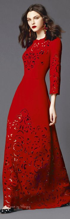 The Millionairess of Pennsylvania / karen cox.  Ravishing red / Valentine's Day. ♔Dolce & Gabbana.2015♔