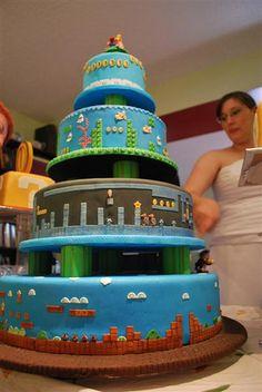 Nintendo wedding cake.