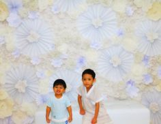 diy paper flower bckdrop