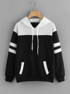 To find out about the Contrast Panel Varsity Striped Hoodie at SHEIN, part of our latest Sweatshirts ready to shop online today! Zip Up Hoodies, Hoodie Sweatshirts, Cool Hoodies, Pink Hoodies, Sports Hoodies, Cheap Hoodies, Pullover Hoodie, Cropped Hoodie, Sweater Hoodie