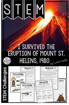 STEM Challenges and Literature Connections are connected to the book I Survived the Eruption of Mount St. Helens, 1980 by Lauren Tarshis. This product will engage your students as read this book. Students will research, design, and construct through these challenges. Students will love making lava with this easy science project. These reading activities will help engage even your relevant learners. (third, fourth, fifth graders, Grade 3,4,5)